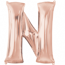 "Rose Gold Letter N Balloon - Rose Gold Letter Balloon (34"")"